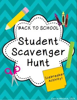 Back to School : Student Scavenger Hunt - FREE!