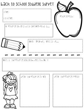 Back to School Student Survey