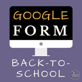 Beginning of the Year Student Questionnaire Google Form Digital Resource