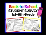 Back to School Student Survey: Get to Know Your Students!