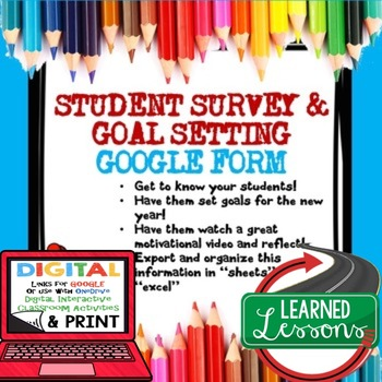 Back to School Student Survey in Google Forms