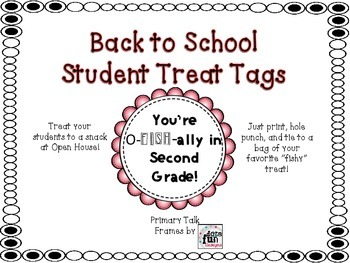 Back to School Student Treat Tags
