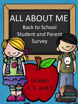 Back to School Student and Parent Survey Freebie