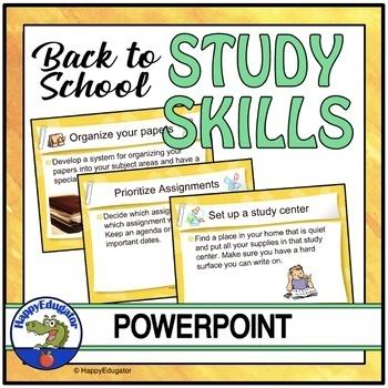 Back to School Study Skills PowerPoint