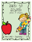 Back to School Subitizing Task Cards (1-10)