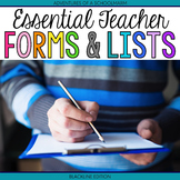 Teacher Planning Templates and Substitute Checklist FREEBIE