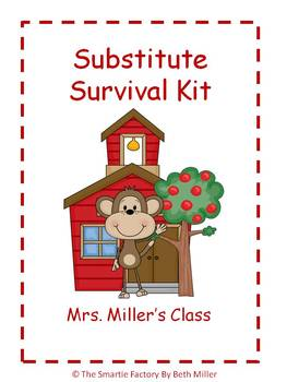 Back to School Substitute Survival Manual: EDITABLE!