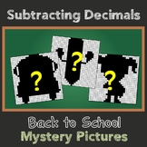 Color By Number Subtracting Decimals Puzzle Back To School Math Center 5th Grade
