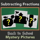 Back to School Subtracting Fractions Mystery Pictures