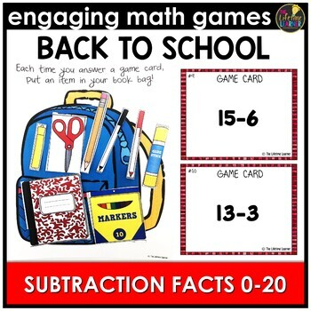 Back to School Subtraction Facts 0-20