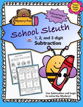 Back to School Subtraction Mystery Fun Sheets