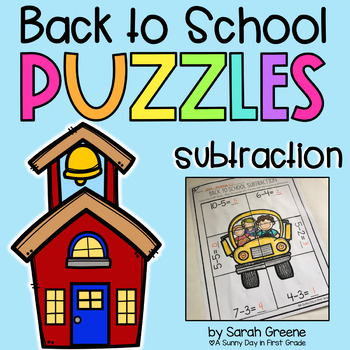 Back to School Subtraction Puzzles!