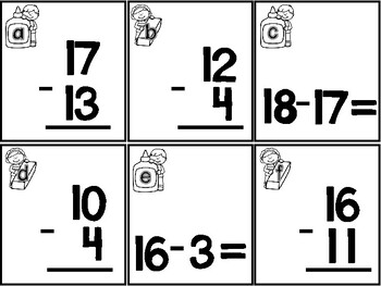 Back to School Subtraction within 20