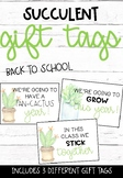 Back to School Succulent/Cactus Gift Tag