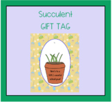 Back to School Succulent GIFT TAG here's to a Succ-cessful year