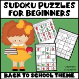 Back to School Sudoku Puzzles for Beginners