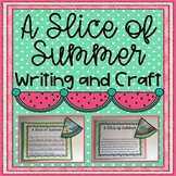 Back to School Summer Memory Writing and Craft