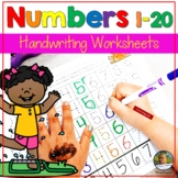 Back to School Summer Number Writing Practice 1-20 Worksheets