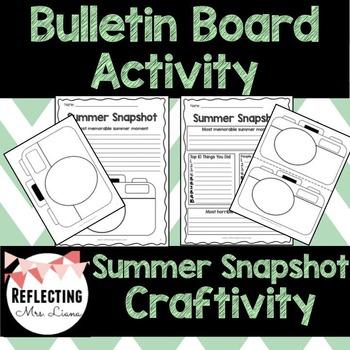 Summer Snapshot Writing