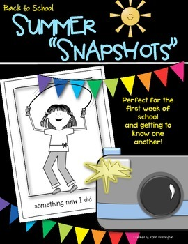 Back to School {Summer Snapshots} Getting to Know Each Other!