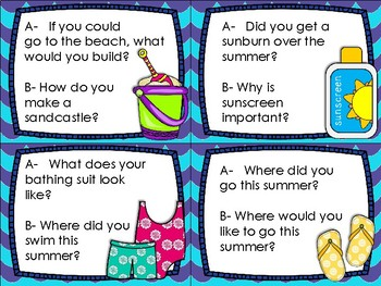 Back to School/Summer Writing Task Cards
