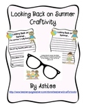Back to School Sunglasses Craftivity
