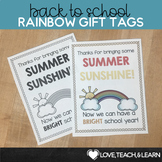 Back to School Sunny Rainbow Gift Tags