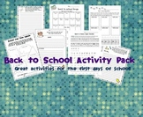 Back to School Super Activity Pack