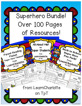 Superhero BUNDLE {Back to School, Class Management, Parent