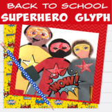 Superhero Math | Back to School Superhero Craft | Superhero Glyph