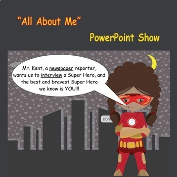 All About Me Super Hero Banners and Interactive Show