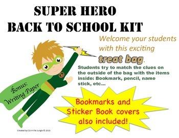 Back to School Super Hero Kit / Treat Bag