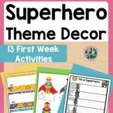 Back to School Superhero Theme for Primary Students