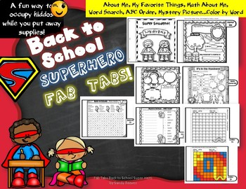 Back to School Super Hero Themed Fab Tab!