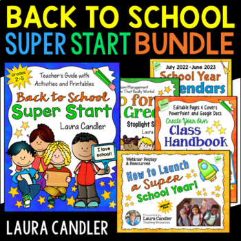 Back to School Super Start Bundle (with Editable Printables)
