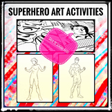 Distance Learning Superhero Art Activities