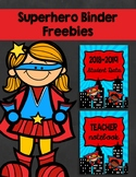 Back to School Superhero Binder Cover Freebie