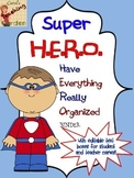Superhero Binder Covers Student Daily Work Folders with Ed