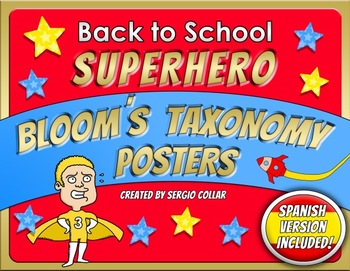 Back to School - Superhero Bloom´s Taxonomy Posters - Bilingual