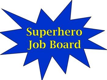Back to School - Superhero Classroom Job Board (Editable)