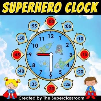 Back to School - Superhero Clock