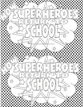 Back to School Superhero Comic Book