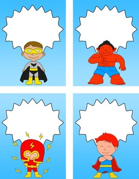 Back to School - Superhero Editable Labels