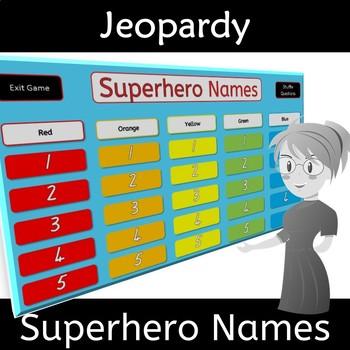 Back to School Superhero Names Game for Class Bonding
