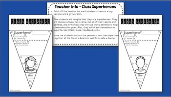 Back to School Superhero Pennant Banner