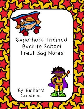 Back to School Superhero Themed Bag Tags
