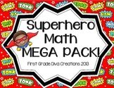 Superhero Themed 7 Printable Math Activites