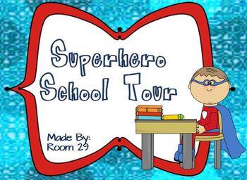 Back to School Superhero Tour Around the School