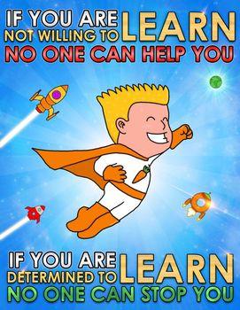 Back to School - Superhero themed poster - no.2 - FREE