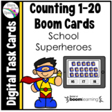 Back to School Superheroes Counting 1 - 20 Boom Cards